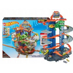 HOT WHEELS MEGA GARAŻ T-REXA + 2 AUTA GJL14