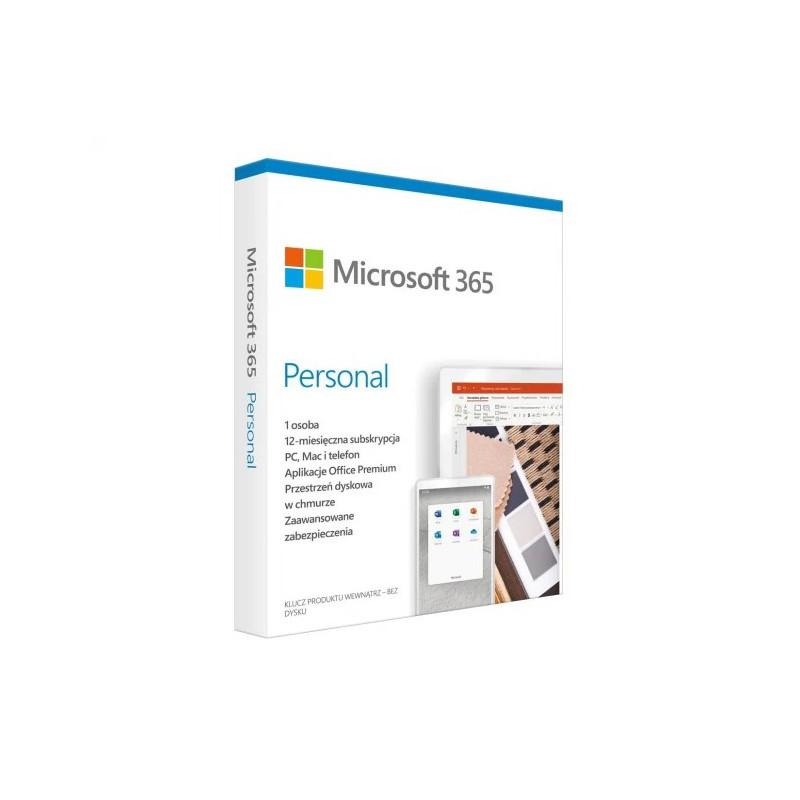 MICROSOFT OFFICE 365 PERSONAL Licencja Roczna 1 Stanowisko BOX